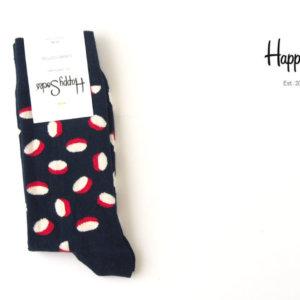 ハッピーソックス|happy socks|クルー丈カジュアルソックス|60-5107|ネイビー×ホワイト×レッド イメージ01