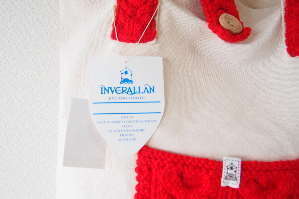 インバーアラン|Inverallan|キャンバス×ニットトートバッグ|レッドイメージ04