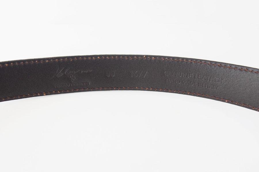 ティベリオ・フェレッティ|TIBERIO FERRETTI|リザード型押し レザーベルト|1677|90|ブラックイメージ02