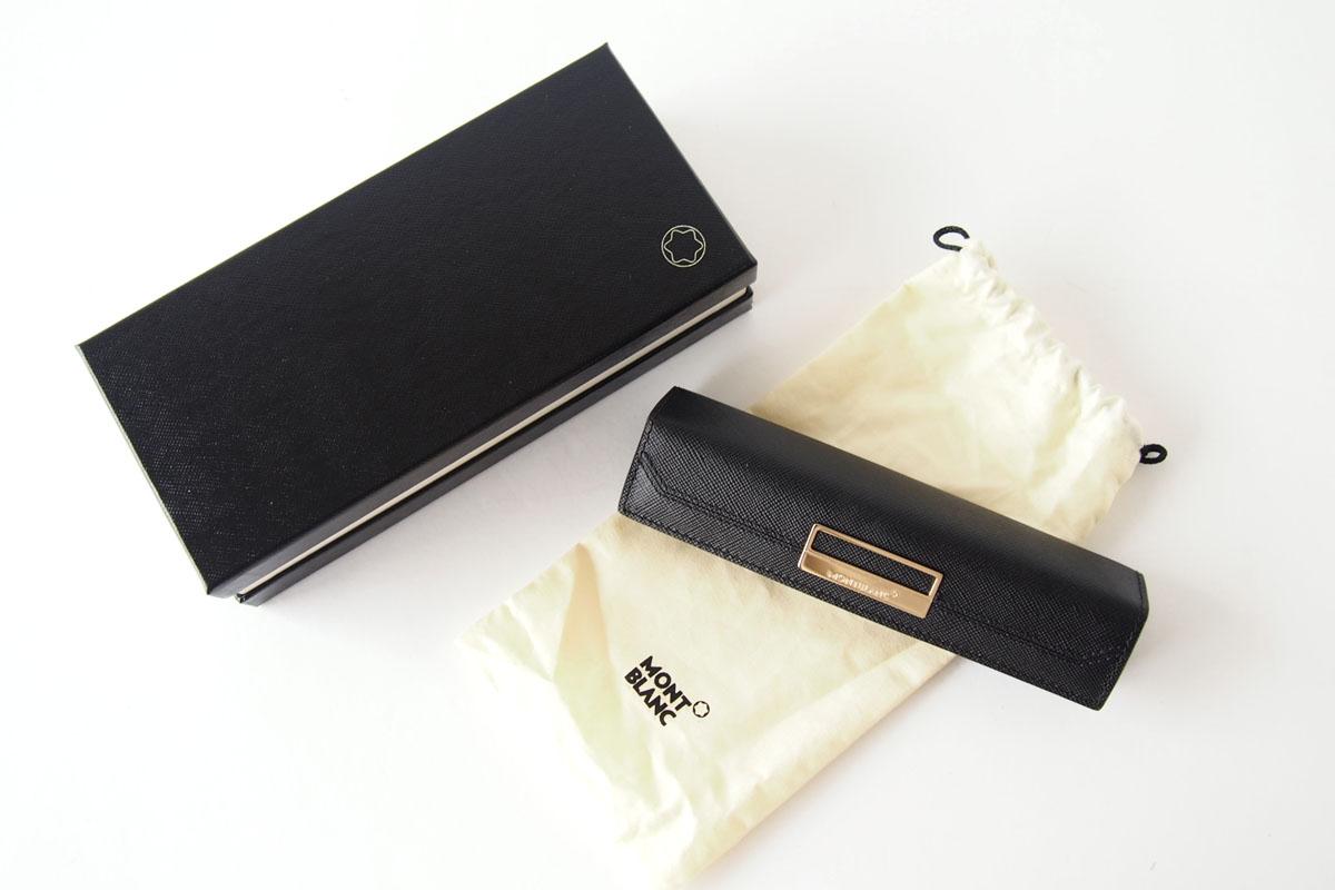 モンブラン|MONTBLANC|サルトリアル|1本差しペンケース|Sartorial Pen Pouch Lady|ブラック010