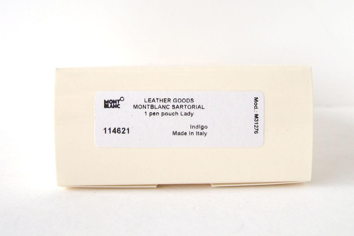 モンブラン MONTBLANC サルトリアル 1本差しペンケース Sartorial Pen Pouch Lady ネイビーイメージ010