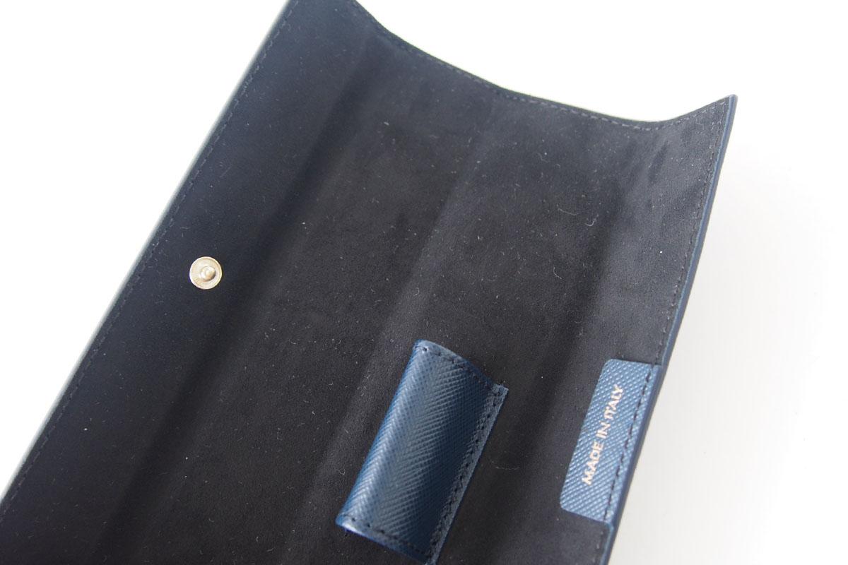 モンブラン MONTBLANC サルトリアル 1本差しペンケース Sartorial Pen Pouch Lady ネイビーイメージ07