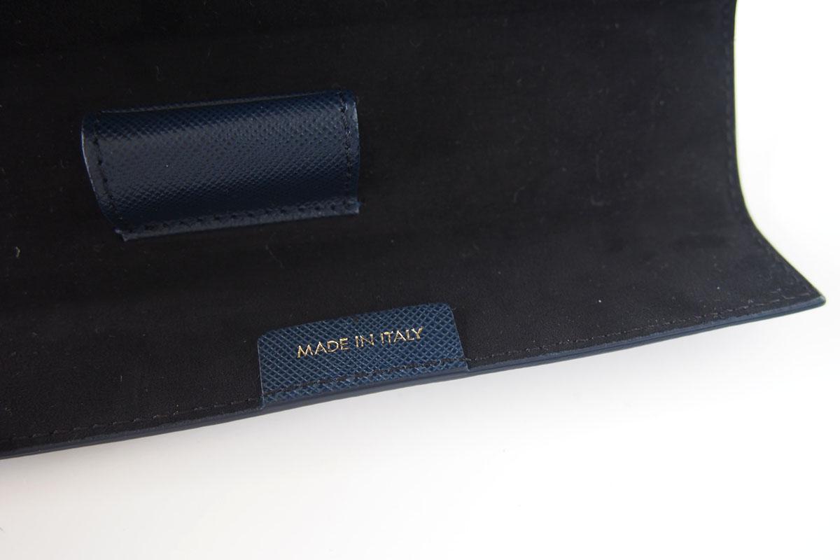 モンブラン MONTBLANC サルトリアル 1本差しペンケース Sartorial Pen Pouch Lady ネイビーイメージ09