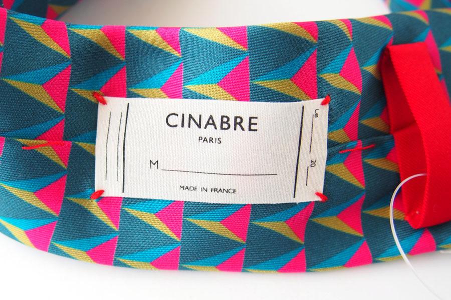 シナブル パリ CINABRE PARIS トライアングル柄シルクネクタイイメージ05