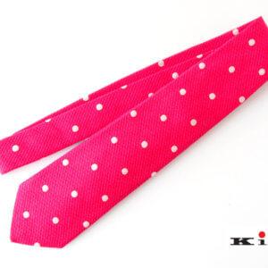 キートン|KITON|シルク×リネン素材ネクタイ|ドット柄|レッドイメージ01