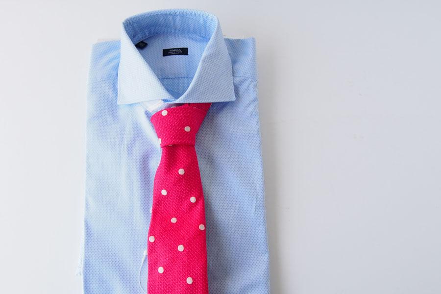 キートン|KITON|シルク×リネン素材ネクタイ|ドット柄|レッドイメージ010