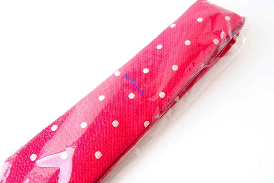 キートン|KITON|シルク×リネン素材ネクタイ|ドット柄|レッドイメージ013