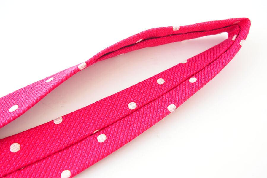 キートン|KITON|シルク×リネン素材ネクタイ|ドット柄|レッドイメージ04