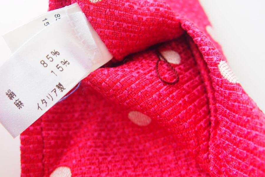 キートン|KITON|シルク×リネン素材ネクタイ|ドット柄|レッドイメージ08
