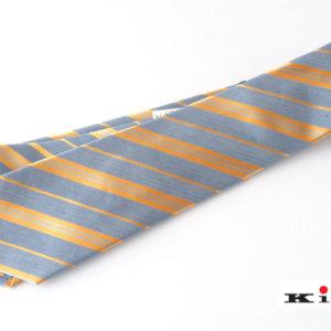 キートン KITON シルク×リネン素材ネクタイ レジメンタルイメージ01