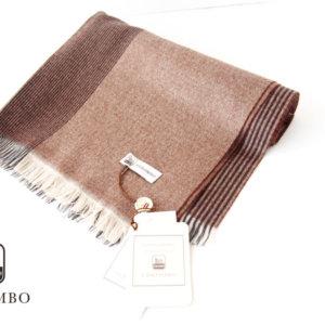 コロンボ|COLOMBO|カシミヤチェック柄マフラー|ストール|ブラウンイメージ01