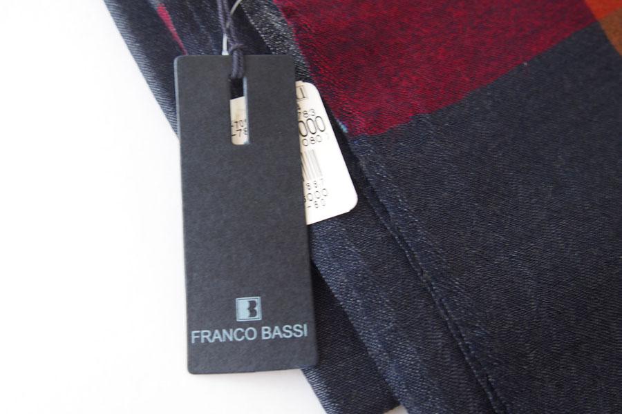 フランコバッシ|Franco Bassi|ウールストール|ネイビー×レッド×ブラウン×ホワイトイメージ02