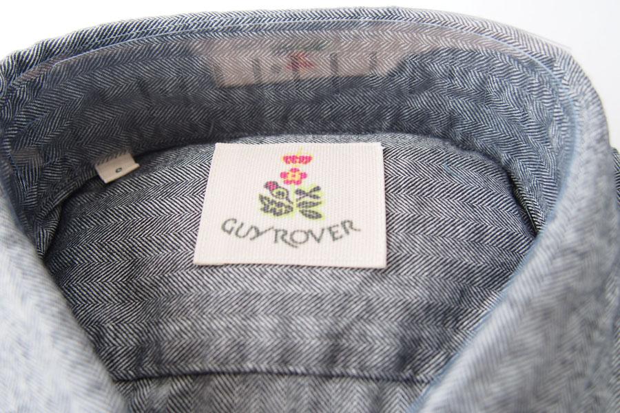 ギローバー|GUY ROVER|ワイドカラーコットンシャツ|S|グレイイメージ01