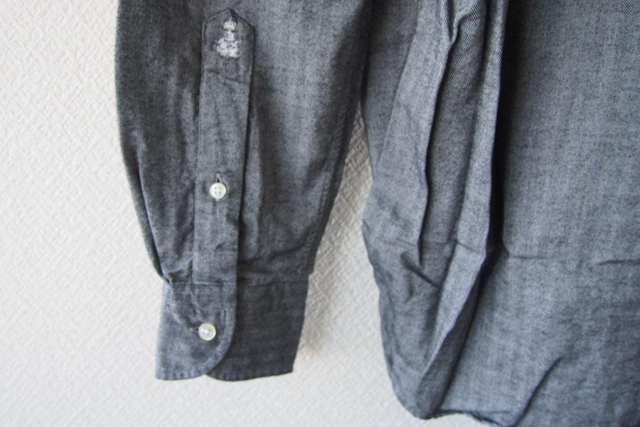 ギローバー|GUY ROVER|ワイドカラーコットンシャツ|S|グレイイメージ010