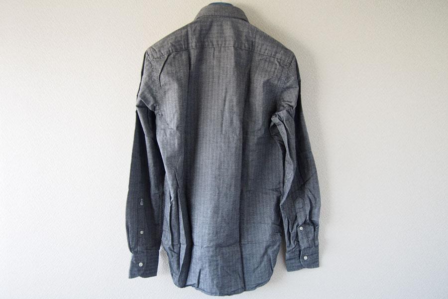 ギローバー|GUY ROVER|ワイドカラーコットンシャツ|S|グレイイメージ011