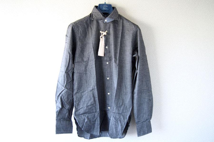 ギローバー|GUY ROVER|ワイドカラーコットンシャツ|S|グレイイメージ06