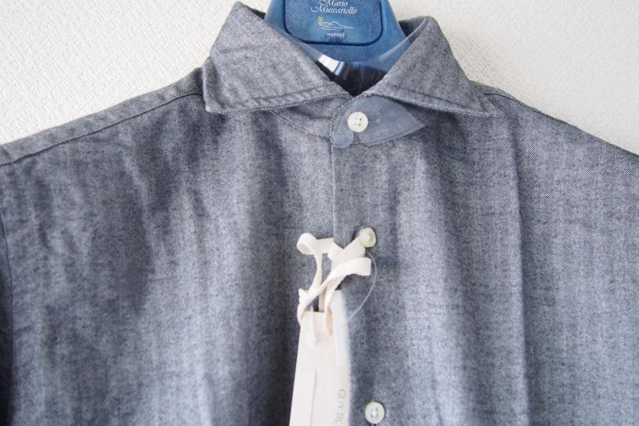 ギローバー|GUY ROVER|ワイドカラーコットンシャツ|S|グレイイメージ07