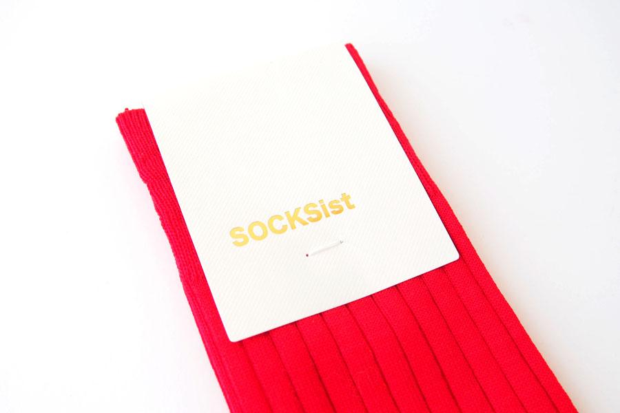 ソクシスト|SOCKSist|メンズリブソックス|レッドイメージ03