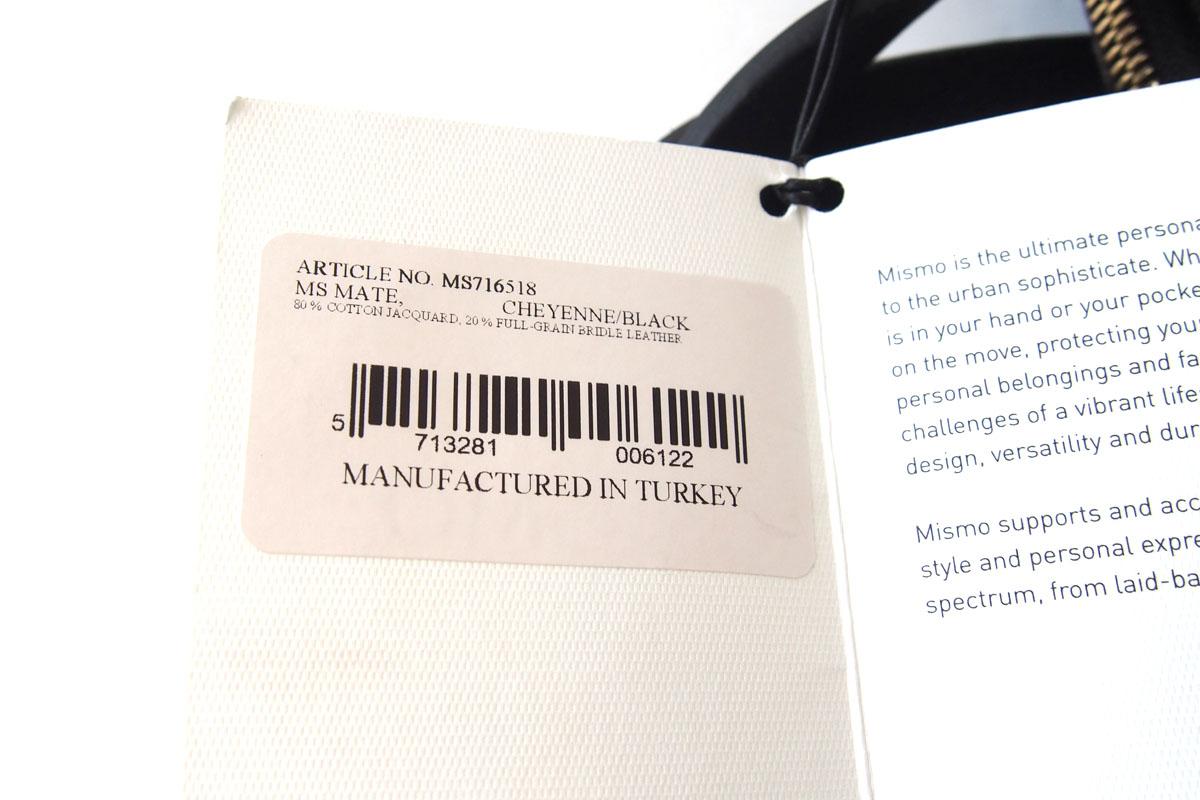 ミスモ|MISMO|キャンバストートバッグ|M/S MATE - CHEYENNE/BLACKイメージ09