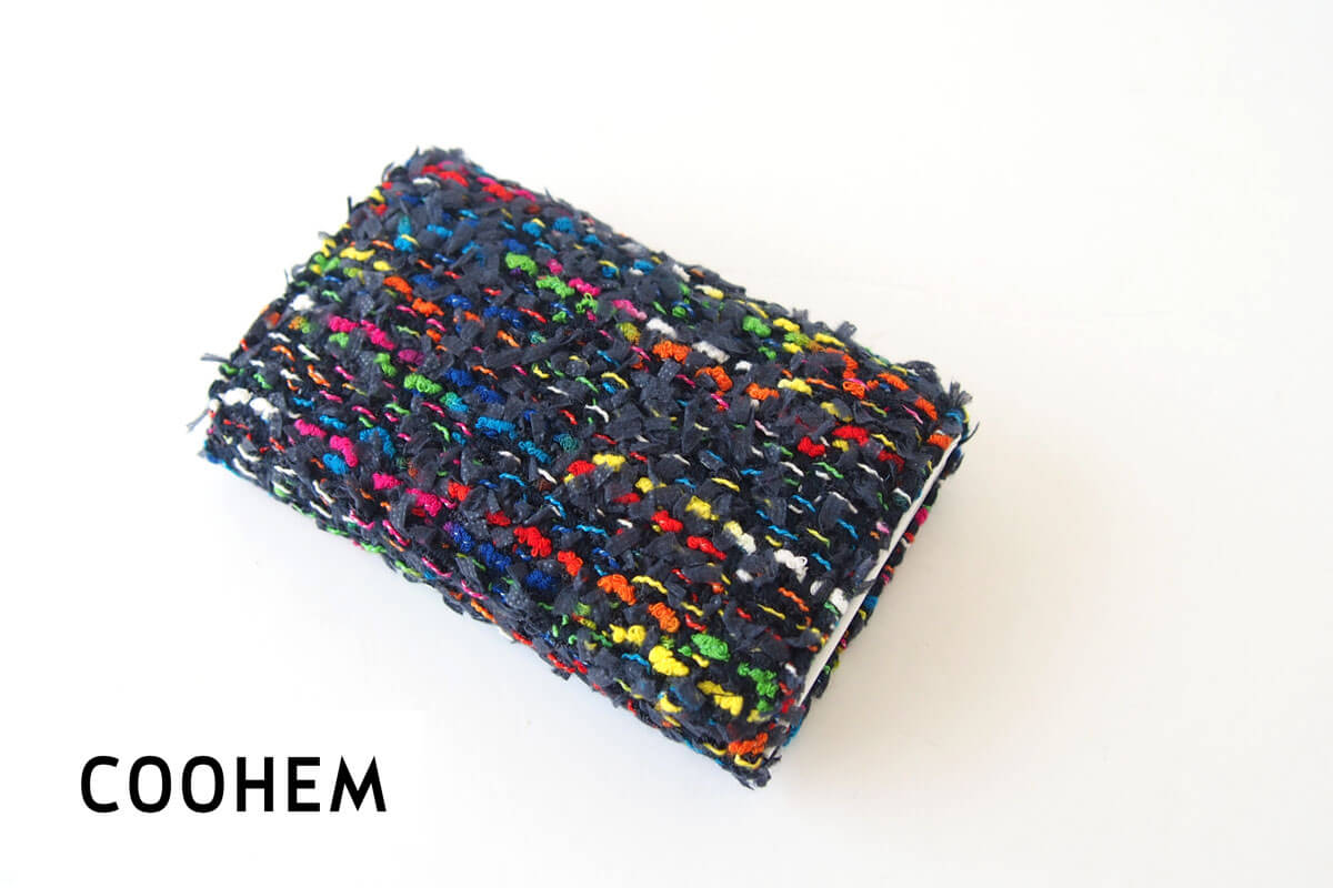 コーヘン COOHEM ツイードカードケース ネイビー イメージ01