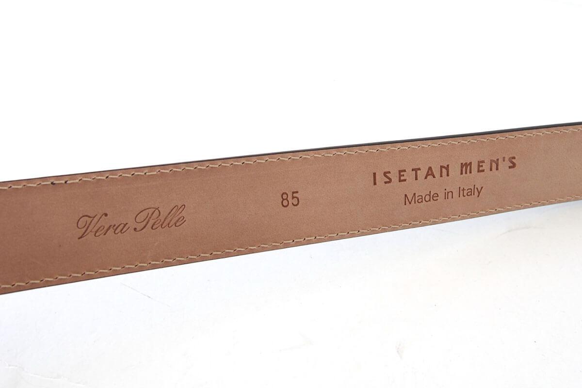 イセタンメンズ|ISETAN MEN'S|vella pelle ベルト|型押しパティーヌ|ブラウン|85イメージ07