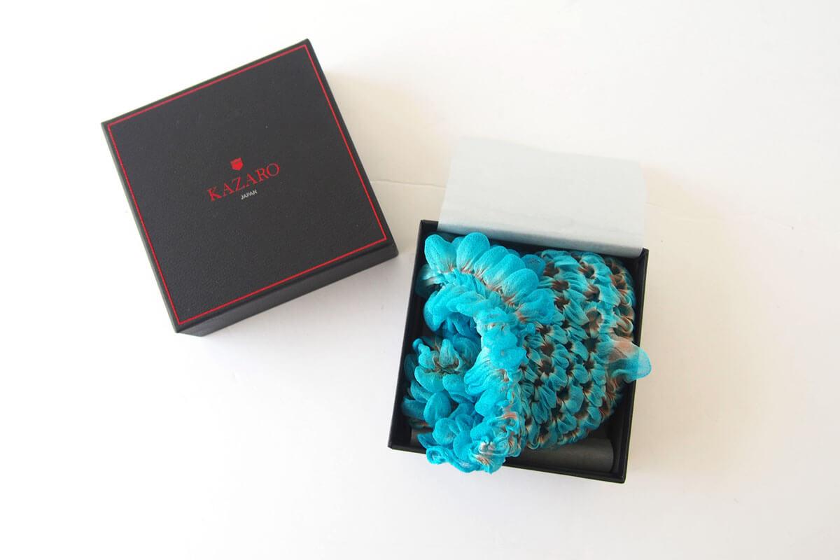 カザーロ|KAZARO|ポケットチーフ|ブルー イメージ01