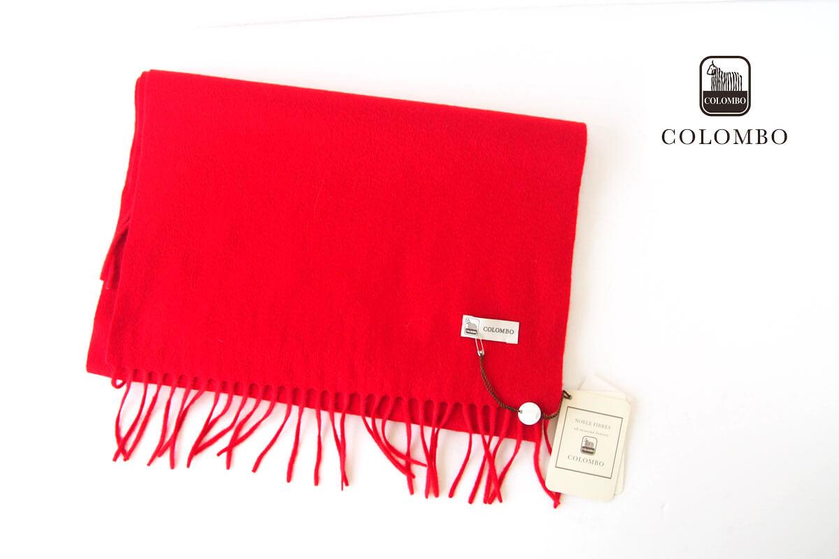 コロンボ|COLOMBO|カシミヤソリッドマフラー|ストール|レッドイメージ01