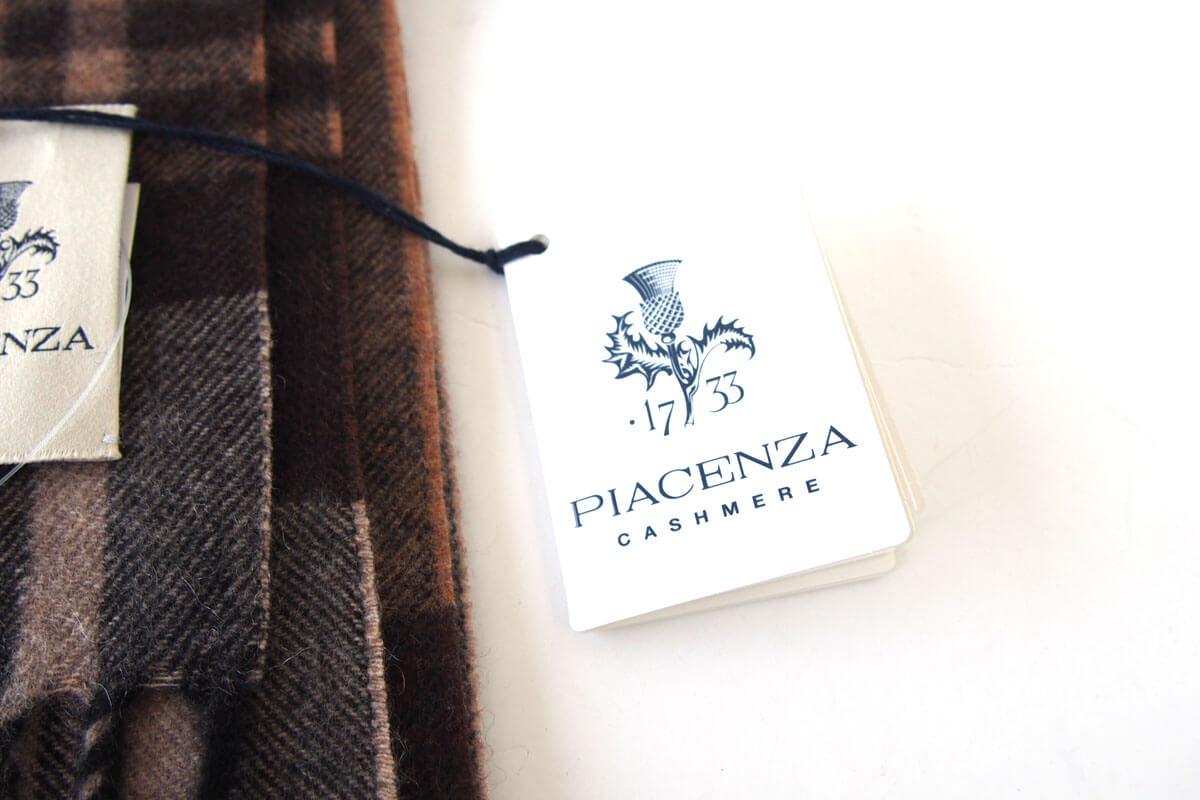 ピアチェンツァ|PIACENZA|カシミア100%チェック柄ストール|マフラー イメージ03