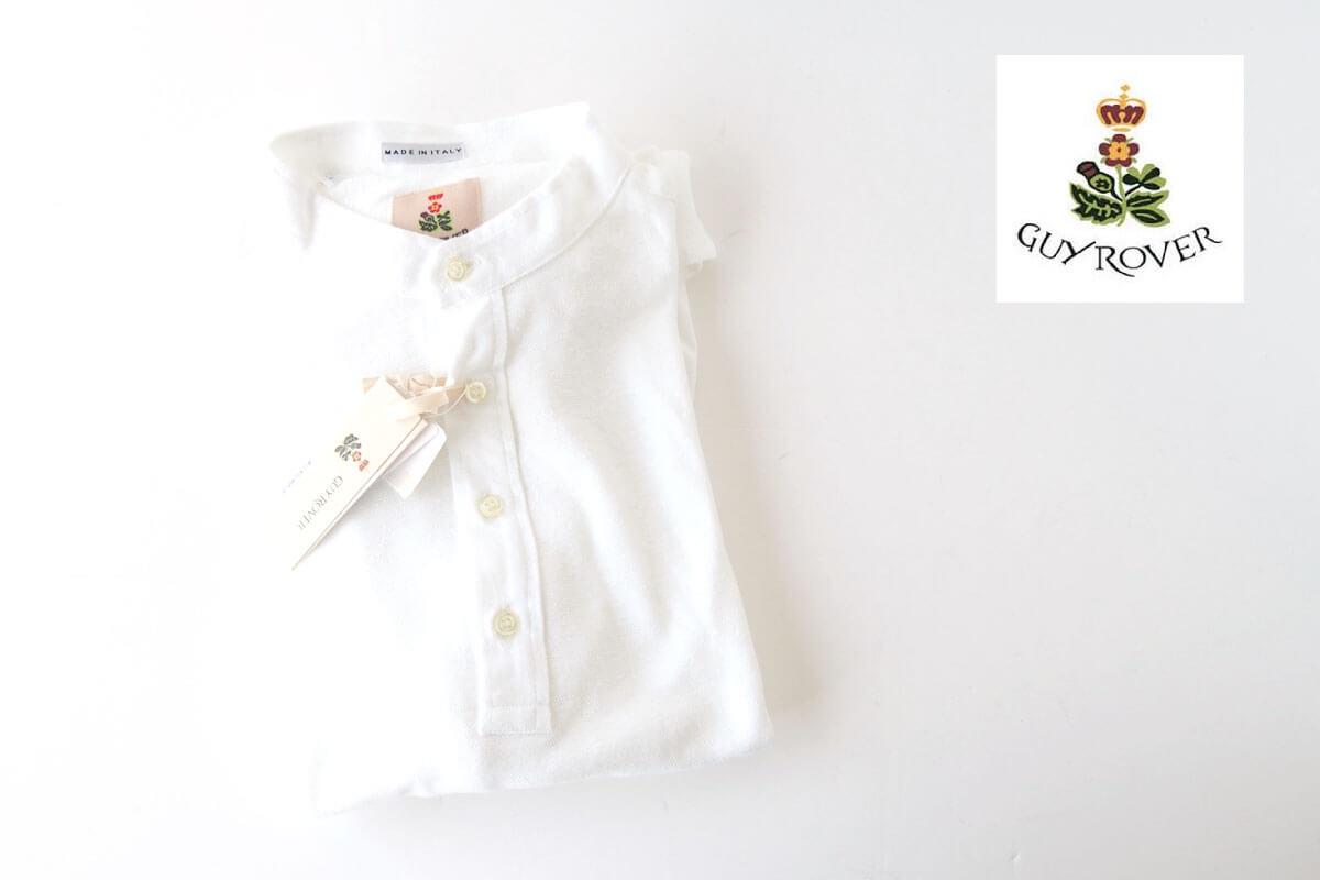 ギローバー GUY ROVER スタンドカラーリネンコットンシャツ 46 ホワイト イメージ01