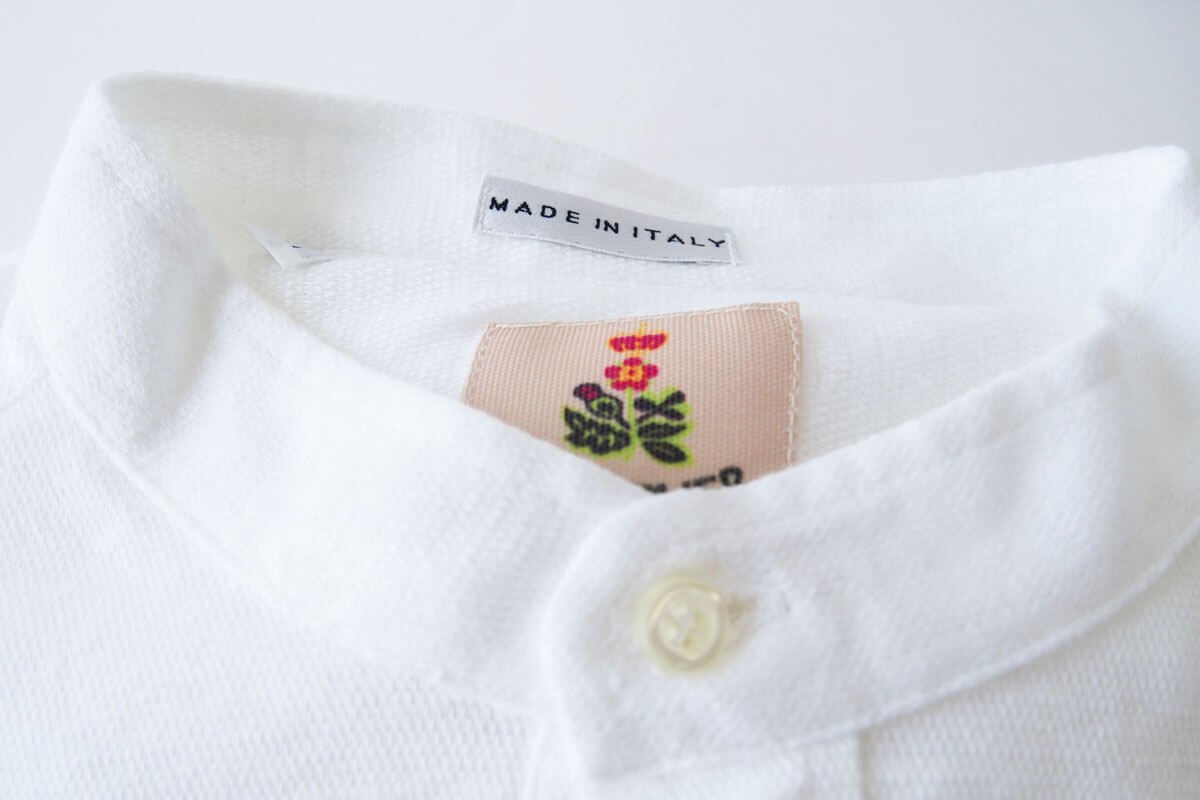 ギローバー GUY ROVER スタンドカラーリネンコットンシャツ 46 ホワイト イメージ02