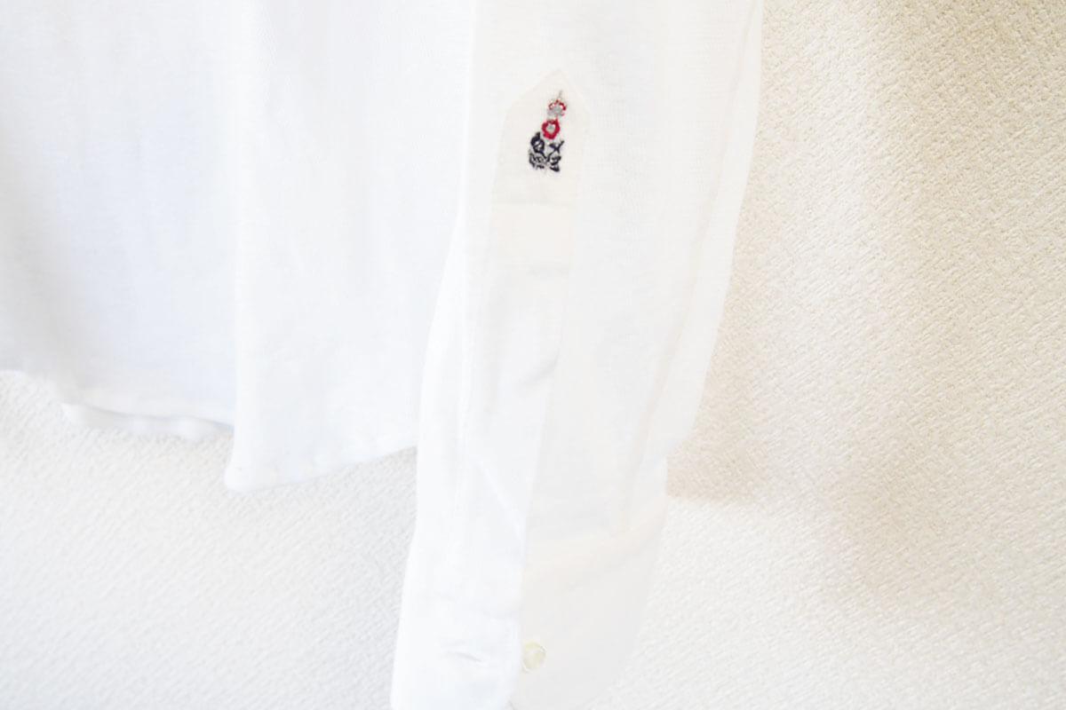 ギローバー GUY ROVER スタンドカラーリネンコットンシャツ 46 ホワイト イメージ06