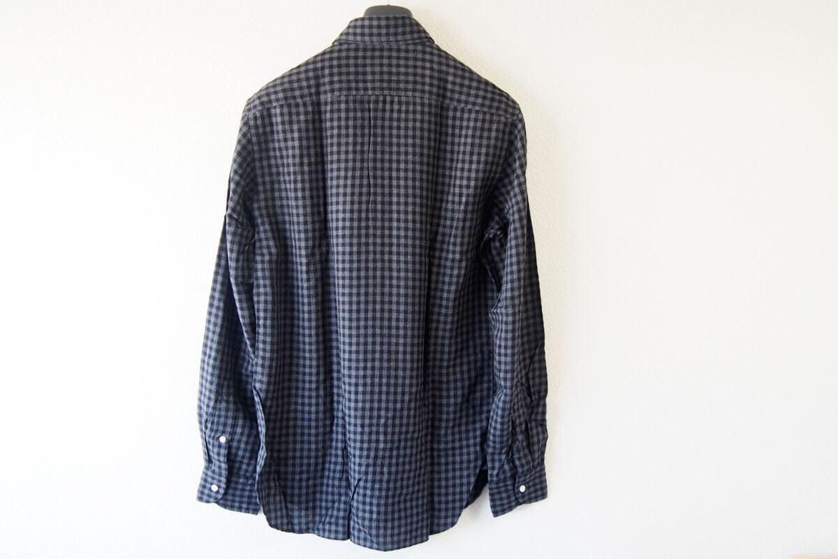 MGF965|チェック柄コットンシャツ|M|ブラック×グレイ イメージ010