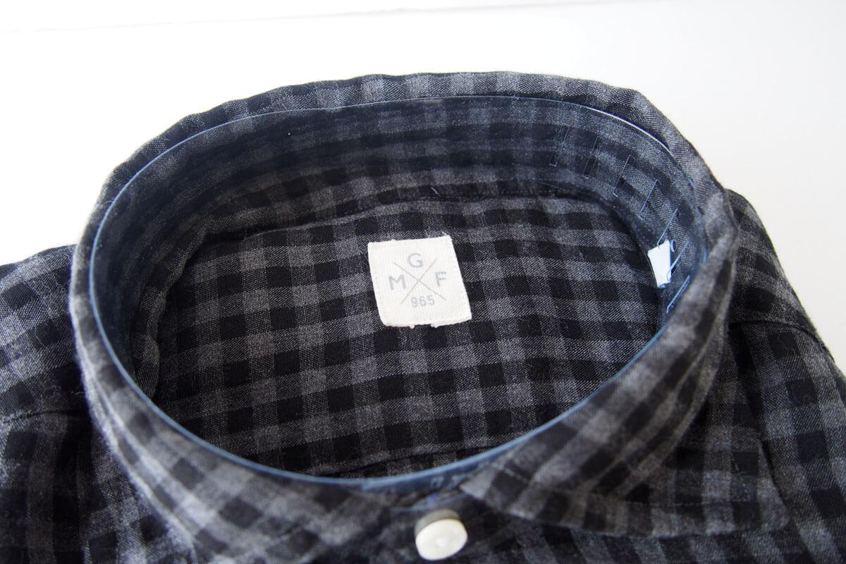 MGF965|チェック柄コットンシャツ|M|ブラック×グレイ イメージ02