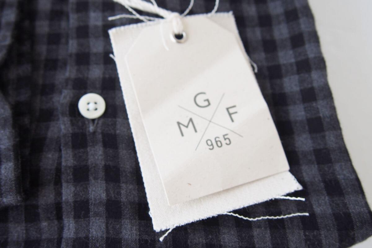 MGF965|チェック柄コットンシャツ|M|ブラック×グレイ イメージ03