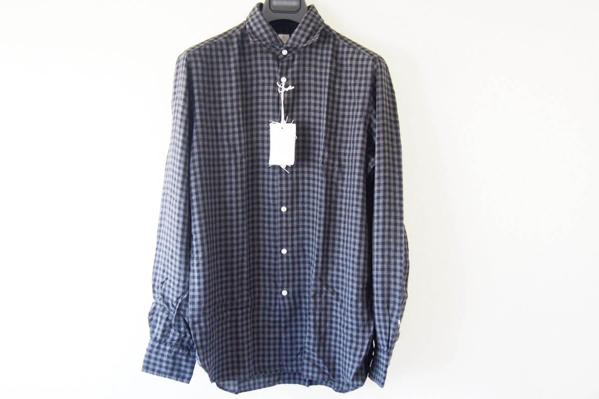 MGF965|チェック柄コットンシャツ|M|ブラック×グレイ イメージ05