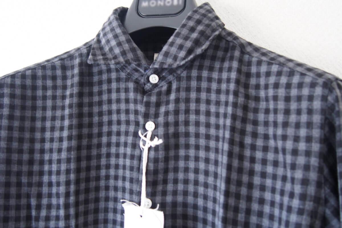 MGF965|チェック柄コットンシャツ|M|ブラック×グレイ イメージ06