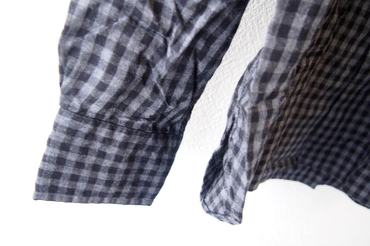 MGF965|チェック柄コットンシャツ|M|ブラック×グレイ イメージ08