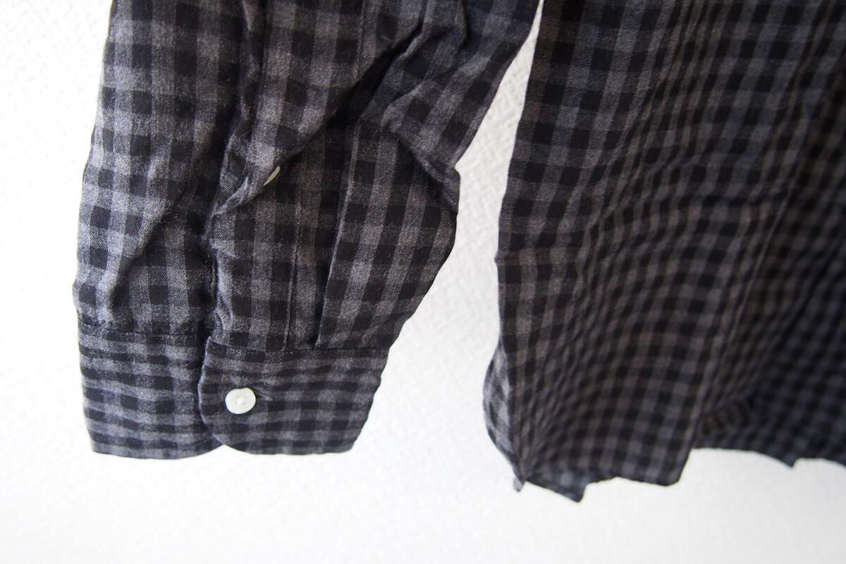 MGF965|チェック柄コットンシャツ|M|ブラック×グレイ イメージ09