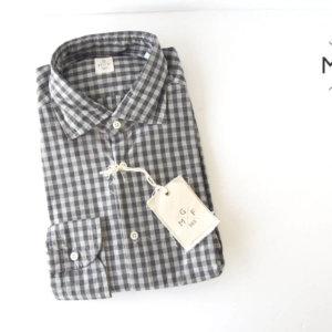 MGF965|チェック柄コットンシャツ|M|グレイ イメージ01
