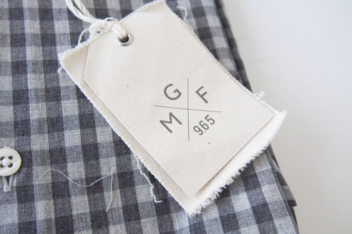 MGF965|チェック柄コットンシャツ|M|グレイ イメージ03