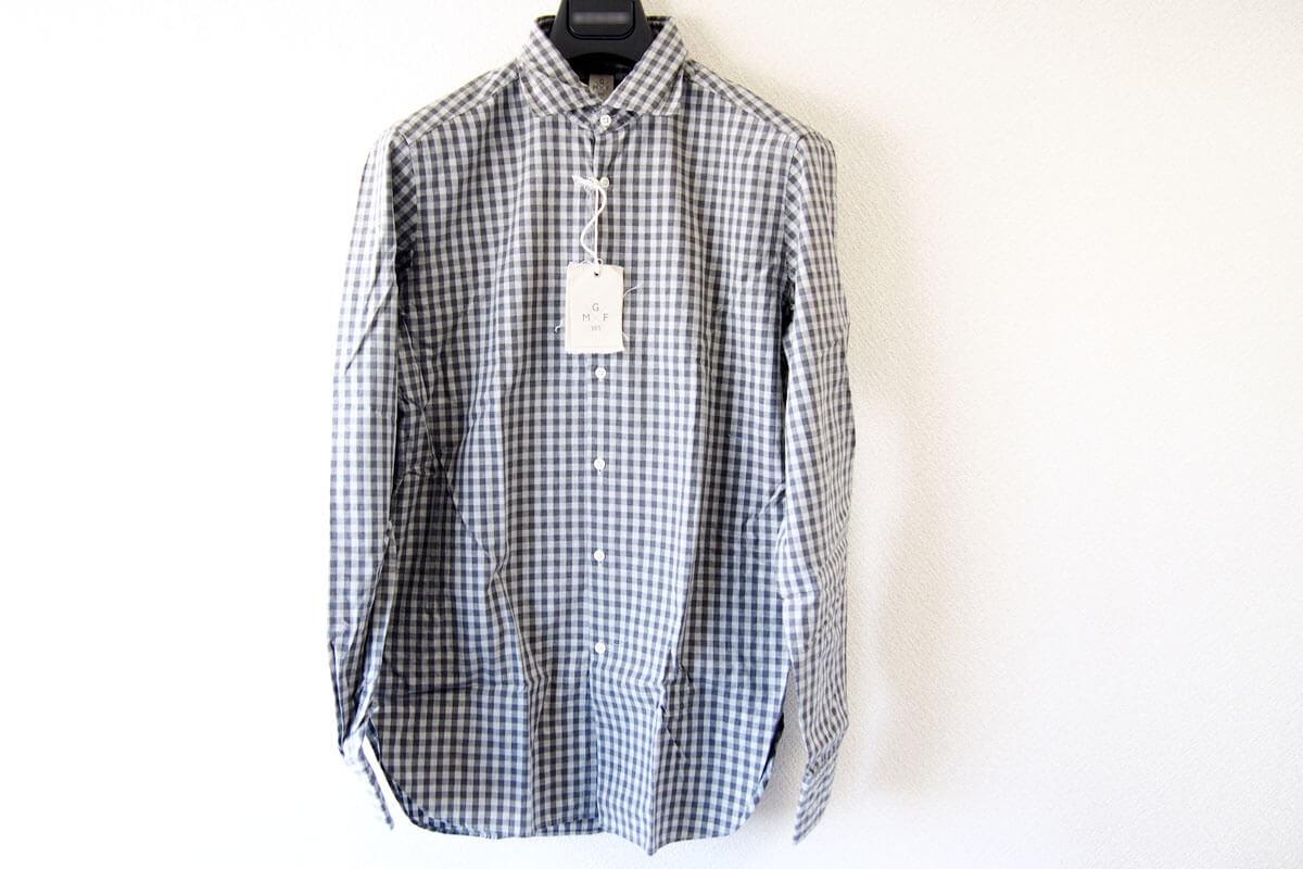 MGF965|チェック柄コットンシャツ|M|グレイ イメージ05