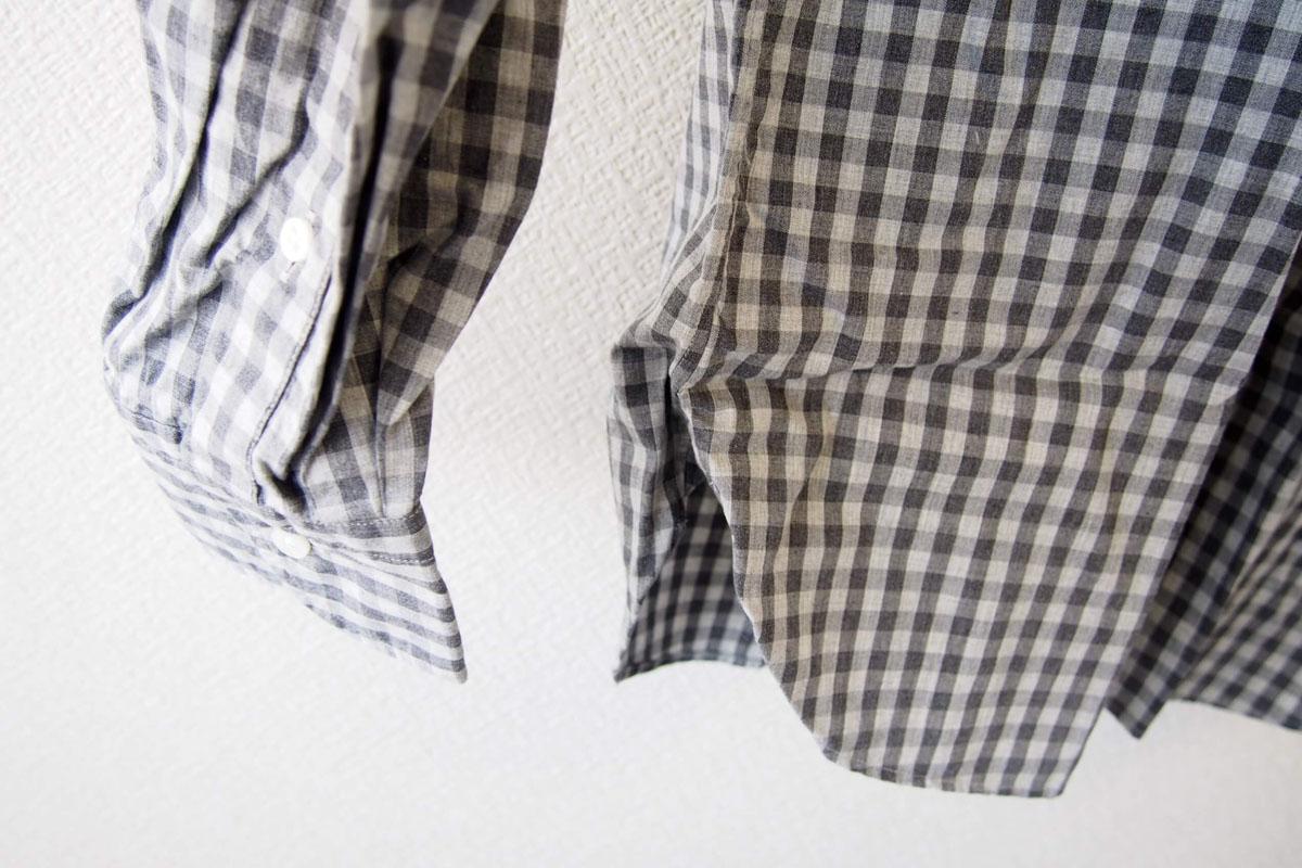 MGF965|チェック柄コットンシャツ|M|グレイ イメージ07