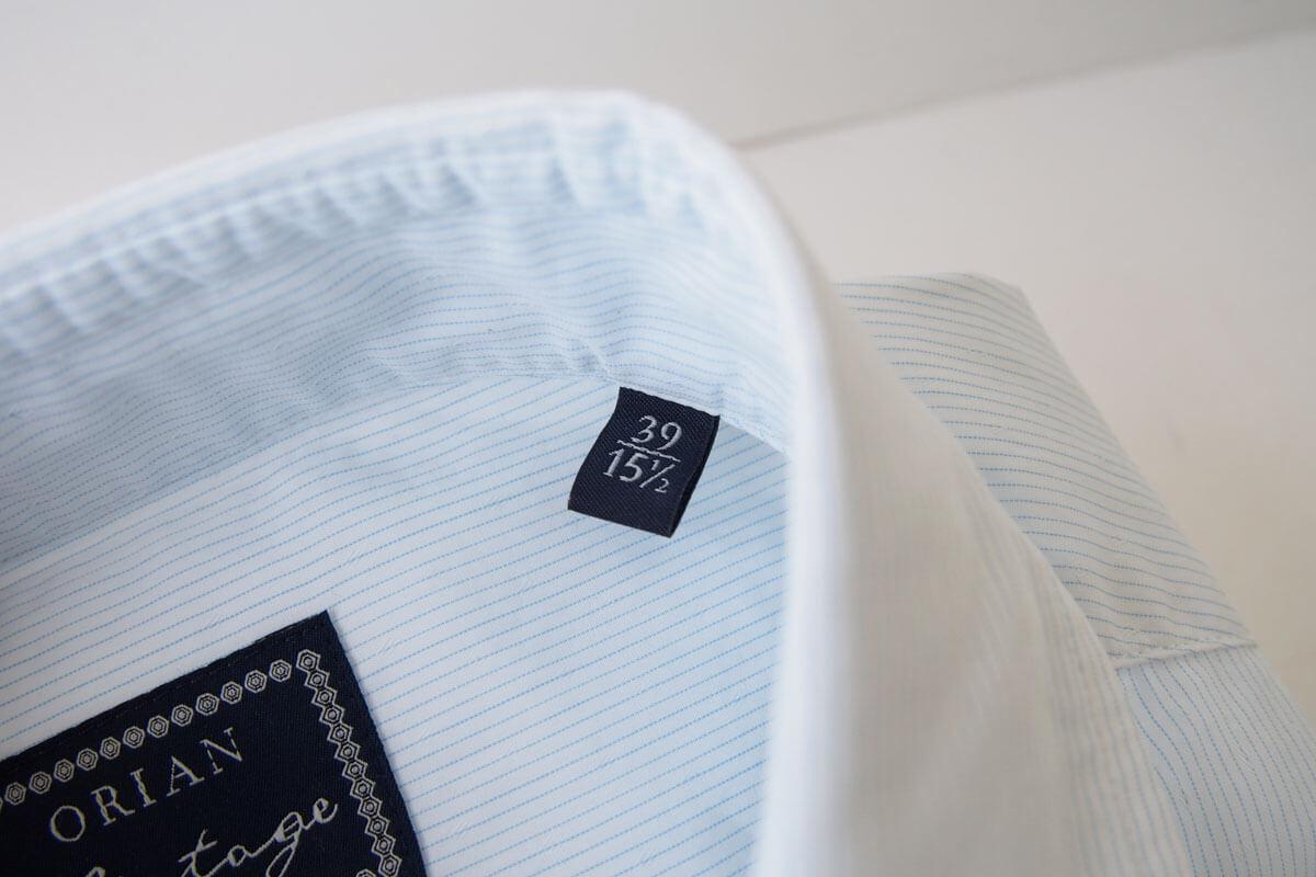 オリアン|ORIAN|ワイドカラーシャツ|スリムフィット|39|15 1/2|JH73 イメージ03