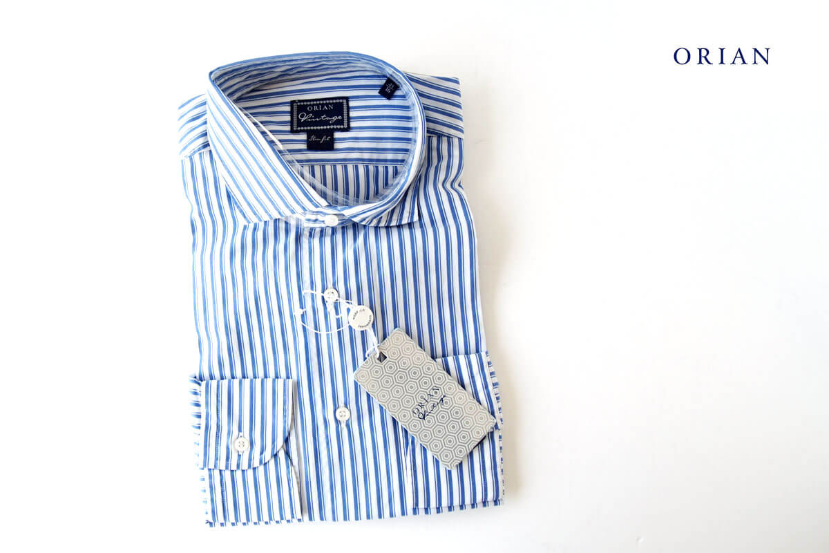 オリアン|ORIAN|ワイドカラーストライプシャツ|スリムフィット|41|16|JH73イメージ01