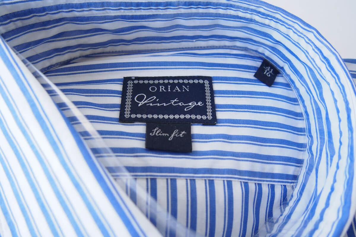 オリアン|ORIAN|ワイドカラーストライプシャツ|スリムフィット|41|16|JH73 イメージ02