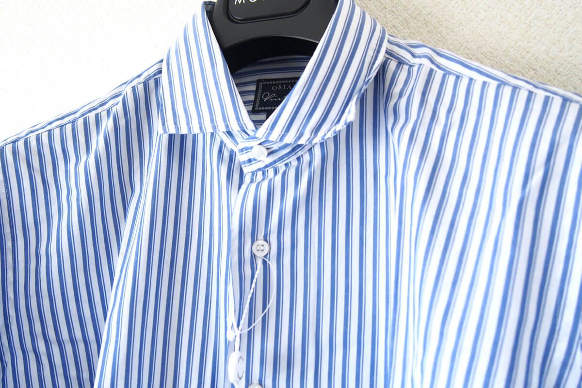 オリアン|ORIAN|ワイドカラーストライプシャツ|スリムフィット|41|16|JH73 イメージ07