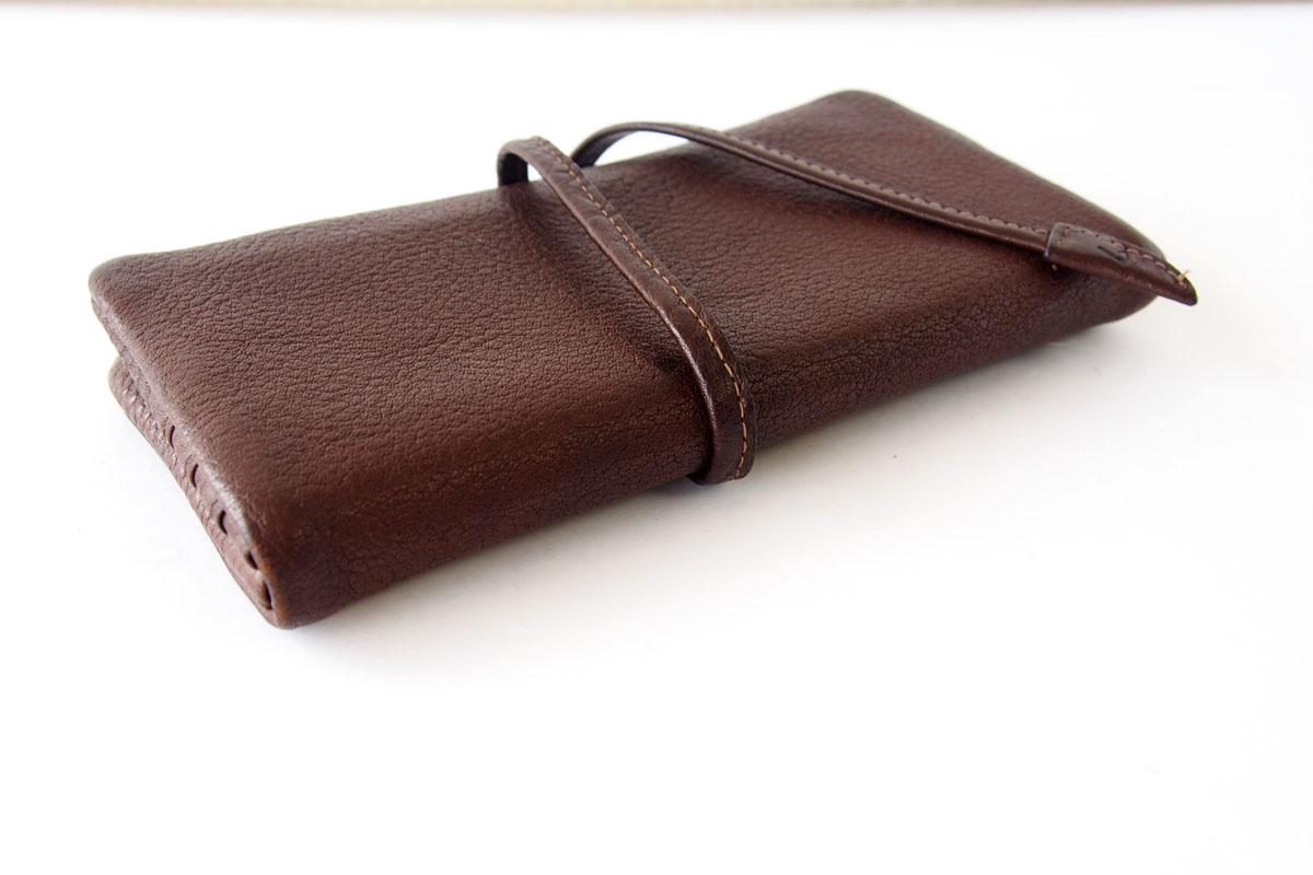 土屋鞄製造所|TSUCHIYA KABAN|トーンオイルヌメ ループロングウォレット|こげ茶|TO1623DBイメージ03