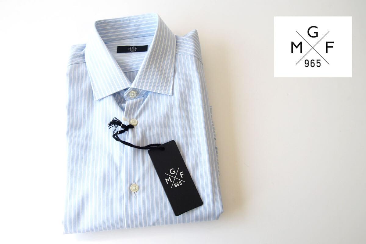 MGF965|MGF965|ストライプ柄コットンシャツ|38|ブルー(1)イメージ01
