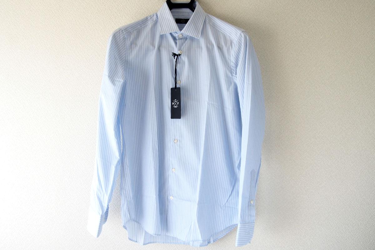 MGF965|MGF965|ストライプ柄コットンシャツ|38|ブルー(1)イメージ02
