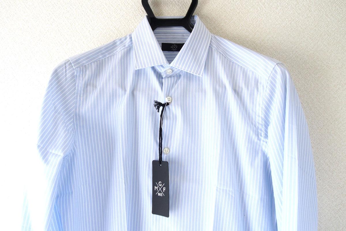 MGF965|MGF965|ストライプ柄コットンシャツ|38|ブルー(1)イメージ03